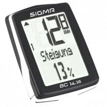 Велокомп. 4-001416 BC 14.16 14 функций, высота, подсветка, NFC(Андроид), черно-белый SIGMA NEW