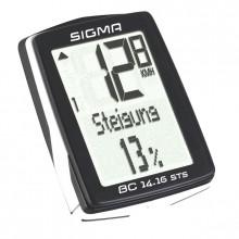 Велокомп. 4-001417 BC 14.16 STS 14 функций, беспроводной, высота, подсветка, NFC(Андроид), черно-белый SIGMA NEW