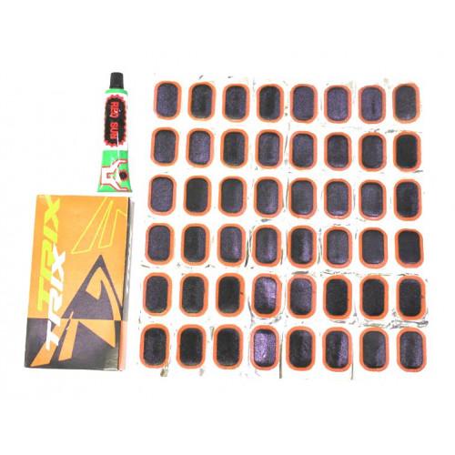 Аптечка велосипедная TRIX, клей 20 мл, заплатки 35х24мм - 48 шт