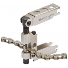 Выжимка цепи BIKEHAND YC-399 для 7-11 скоростных цепей, запасной пин, 8/9/10мм, спицы 3.2/3.3/3.5/4,0мм