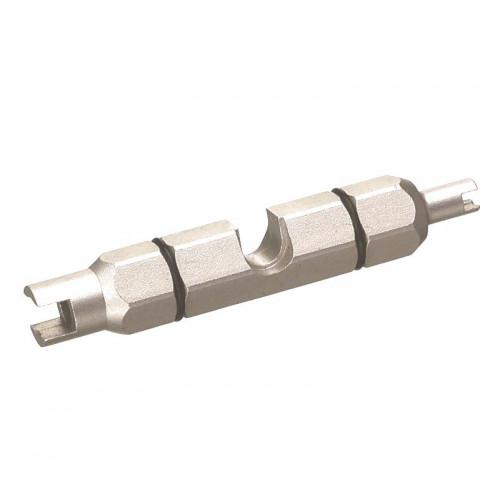 Съемник для нипелей BIKEHAND YC-1VW сталь, для Schrader and Presta нипелей серебристый