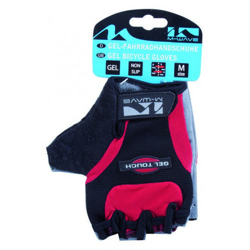 Перчатки велосипедные мужские M-WAVE антискользящие вставки, дышащие, с петельками