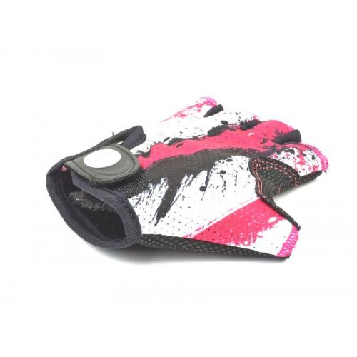 Перчатки подростк. X6 розово-белые р-р L замша/синт. кожа AUTHOR