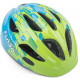 Шлем велосипедный AUTHOR FLASH детский, размер 51-55, с встроен. фонарем, зелено-синий