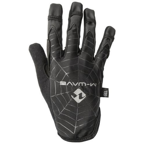 Перчатки велосипедные мужские M-WAVE SPIDERWEB длинные пальцы, дышащие, для сенсора, антискользящие