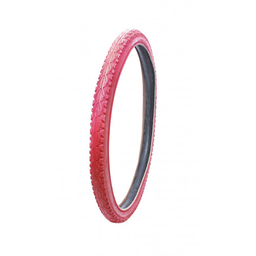 Покрышка велосипедная KENDA KHAN K935 26х1,95 , 30TPI, полуслик протектор, красная