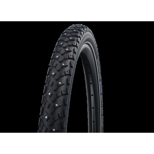 Покрышка велосипедная SCHWALBE WINTER 16x1,20 (30-349), 50EPI, зимняя шипованная, антипрокол., светоотр.