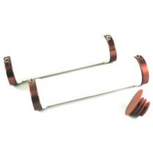 Ручки на руль CLARKS CLO-201, длина 130мм, резина, с фиксацией, бело-красные