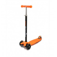 Самокат детский, регулируемый руль, светодиодные колеса 120 и 80 мм, оранжевый