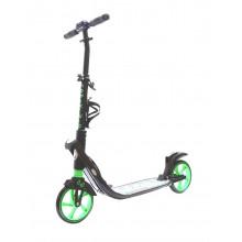 Самокат COD-X 2.0 Quick Folding, алюминиевый, 2 аммортизатора, колеса 200 мм, черно-зеленый