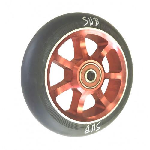 Колесо для самоката SUB трюкового, фрезерованое, алюминиевое, с подшипником ABEC9 100 мм анодированное