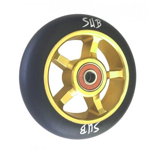 Колесо для самоката SUB трюкового, фрезерованое, алюминиевое, с подшипником ABEC9 100 мм