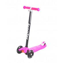 Самокат детский, регулируемый руль, светодиодные колеса 120 и 80 мм, розовый