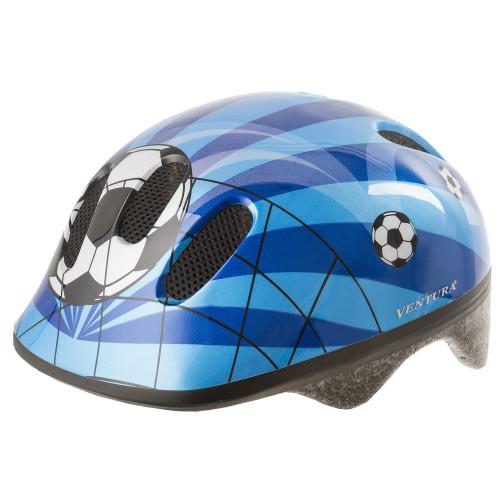 Шлем велосипедный M-WAVE KID-S детский, размер S (52-57), SOCCER