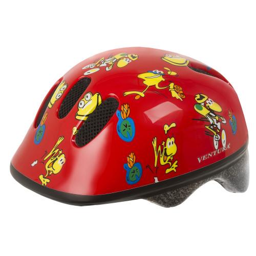 Шлем велосипедный M-WAVE KID-XS детский, размер XS (46-52), FROGS