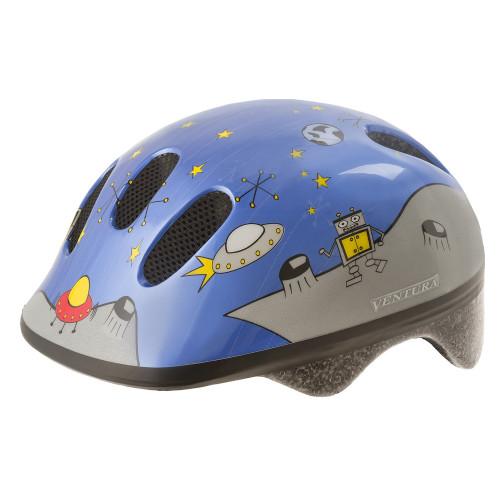 Шлем велосипедный M-WAVE KID-S детский, размер S (52-57), SPACE