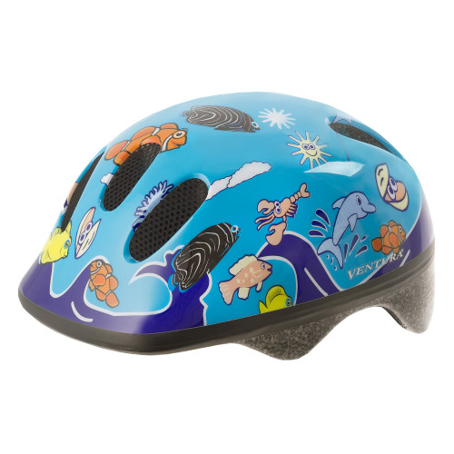 Шлем велосипедный M-WAVE KID-S детский, размер S (52-57), SEA WORLD
