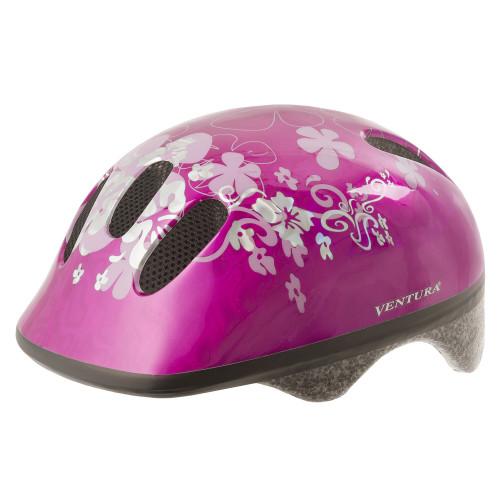 Шлем велосипедный M-WAVE KID-S детский, размер S (52-57), FLOWER