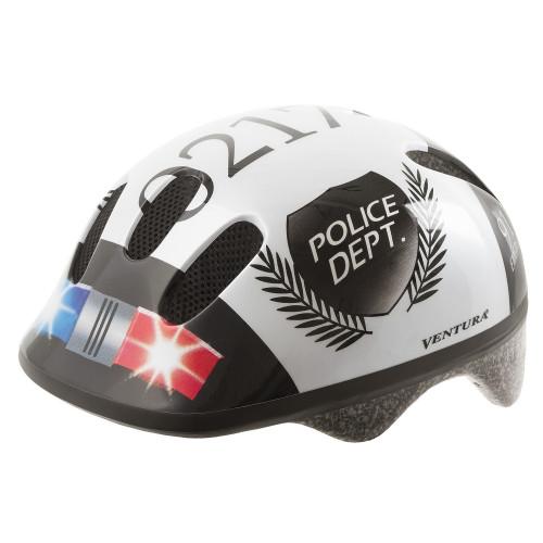 Шлем велосипедный M-WAVE KID-S детский, размер S (52-57), POLICE
