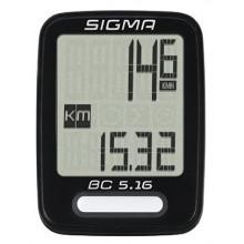 Велокомп. 4-005160 BC 5.16 5 функций, черный SIGMA NEW