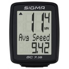 Велокомп. 4-007160 BC 7.16 7 функций, черный SIGMA NEW