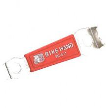 Съемник бонок 6-150271 систем шатунов YC-271 накидн. ключи 9мм, 10мм, сталь, красный BIKEHAND