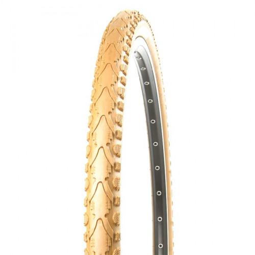 Покрышка велосипедная KENDA KHAN K935 700х38С (40-622), 30TPI, полуслик протектор, корич.