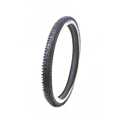 Покрышка велосипедная KENDA K837 24х2,10 (54-507), грязевой протектор, черно-бел.