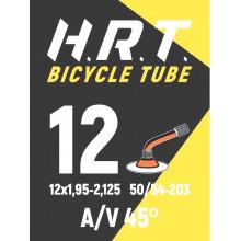 Камера велосипедная H.R.T. 12x1,95-2,125, изогнут. автониппель 35мм