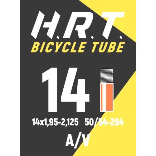 Камера велосипедная H.R.T. 14x1,95-2,125, автониппель 35мм