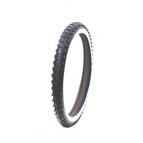 Покрышка велосипедная KENDA K870 20х2,00 (54-406), грязевой протектор, черно-бел.