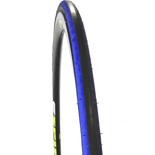 Покрышка велосипедная KENDA KADENCE K1081 700х23С , 60TPI, слик протектор, черно-син.