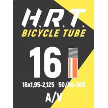 Камера велосипедная H.R.T. 16x1,95-2,125, автониппель 35мм