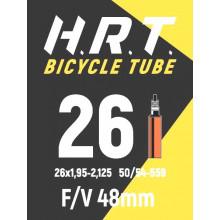 Камера велосипедная H.R.T. 26x1,95-2,125, спорт. ниппель 48мм