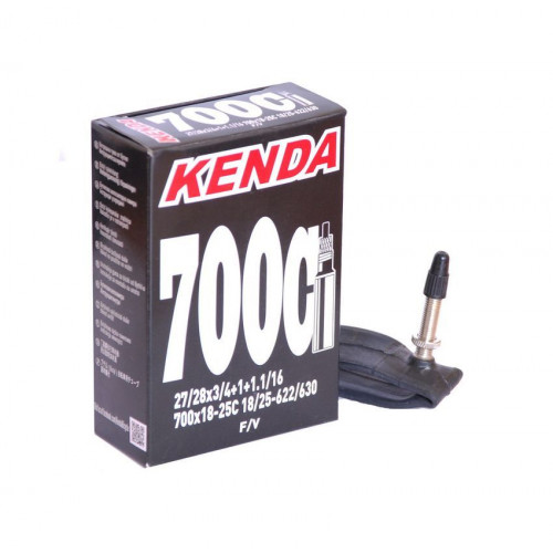 Камера велосипедная KENDA 28 700х18-25C, спорт. ниппель 32мм