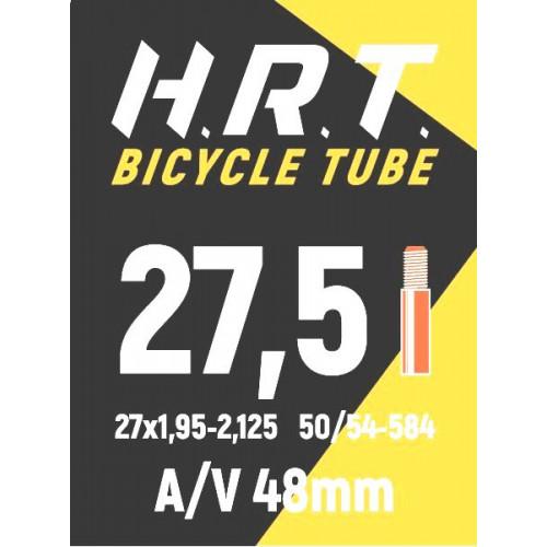 Камера велосипедная H.R.T. 27,5x1,95-2,125, автониппель 48мм
