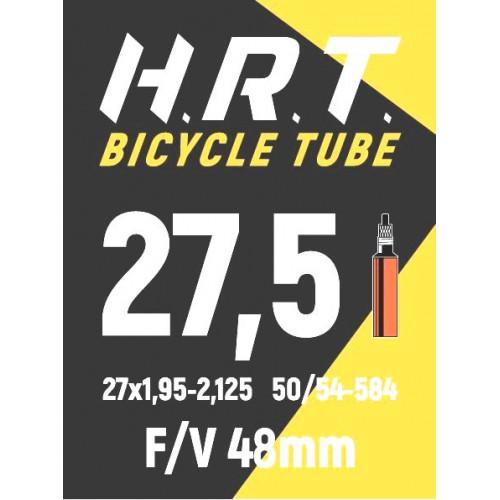 Камера велосипедная H.R.T. 27,5x1,95-2,125, спорт. ниппель 48мм