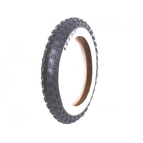 Покрышка велосипедная KENDA K50 12 1/2х2 1/4 (62-203), 30TPI, грязевой протектор, черно-белая