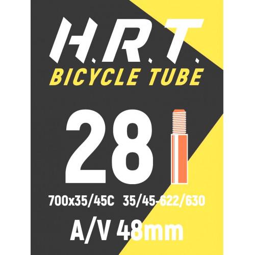 Камера велосипедная H.R.T. 28 700х35C, автониппель 48 мм
