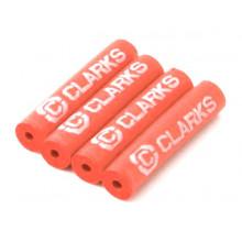 Защита рамы 3-249 от трения рубашек FPX4 резин. трубочки 40мм 4шт. красные CLARKS