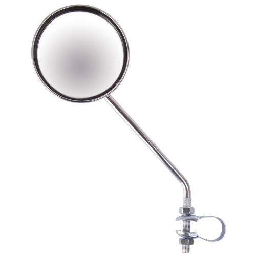 Зеркало 5-271018 плосокое круглое D=80мм регул. кольц. крепление серебр.